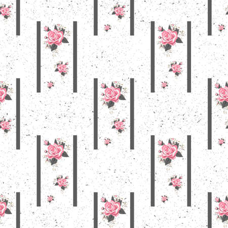 Seamless floral pattern with flowers, watercolor. Vector illustration.eps 10