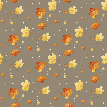 Seamless pattern with colored autumn leaves. Vector illustration.eps 10 Illustration