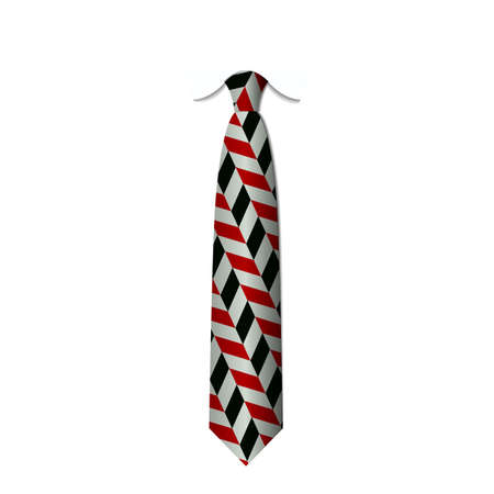red and black ties isolated on white background vector eps 10 Illustration