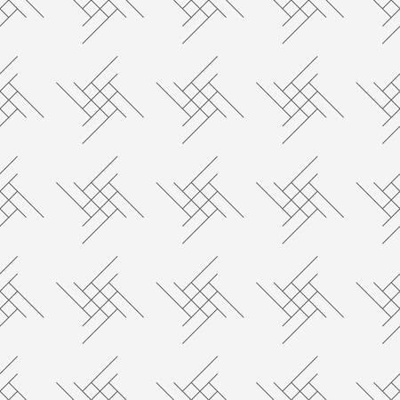 Vector seamless pattern. Modern stylish texture. Geometric striped ornament. Monochrome linear braids eps Çizim