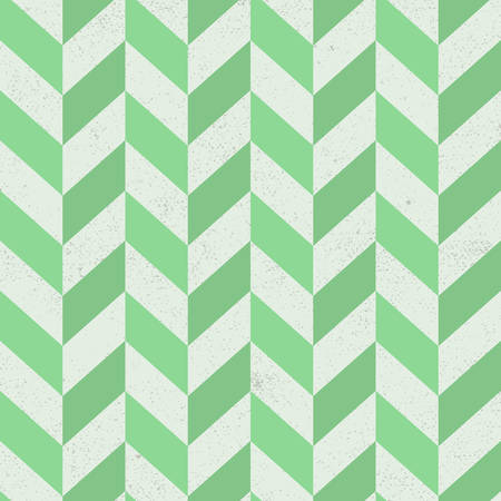 Seamless old green chevron pattern on paper texture. Vector Illustration