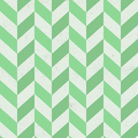 Seamless old green chevron pattern on paper texture. Vector Illustration