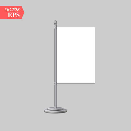 small table flag isolated on white background. vector table flag mock-up eps10
