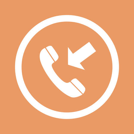 Phone icon. Flat design style.