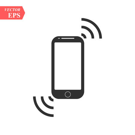 Smartphone Mobile Device Ringing Or Vibrating Flat Icon For Apps And Websites