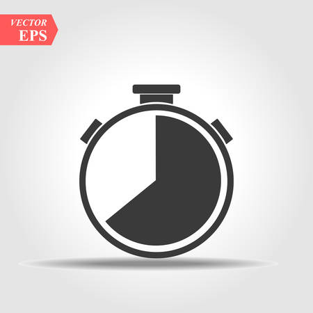 stopwatch vector icon. Clock line icon in trendy flat style isolated on background. Vector illustration. Ilustração