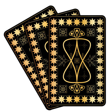 Playing Card Gold Designs. on white background