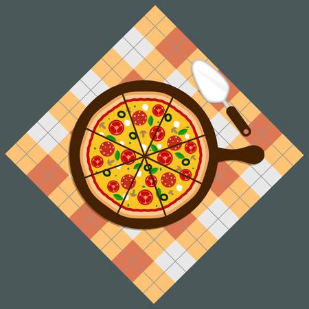 Pizza. Pizza delivery.Pizza on chalkboard background. Pizza bar. Pizza menu.