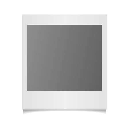 Vector photo frame on white background Illustration