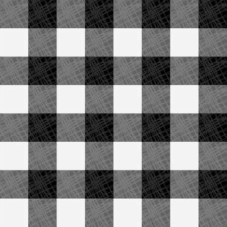Tartan pattern. Scottish traditional fabric seamless vector. White on black background. Suitable for children, decoration paper, home, design, concept, clothing, handicraft scrap booking.