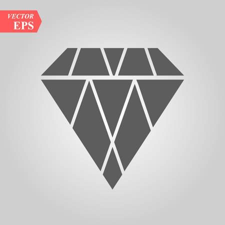 Diamond vector icon, flat design best vector icon eps 10