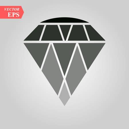 diamond icon, diamond icon on white background eps 10 Ilustrace