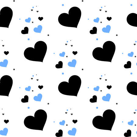 Seamless hearts pattern. Vector repeating texture. eps 10 Vetores