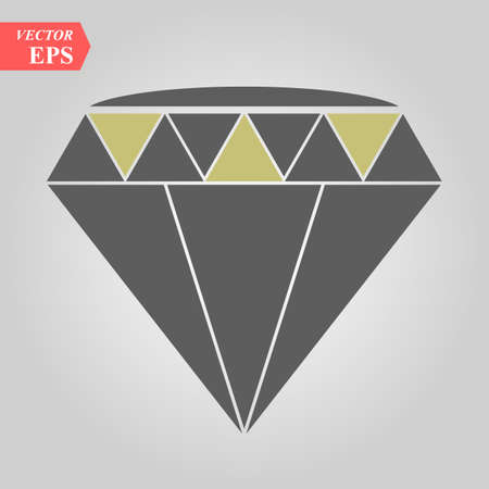 A sparkling cubic crystal jewel is graphically designed to make an icon for diamond eps 10