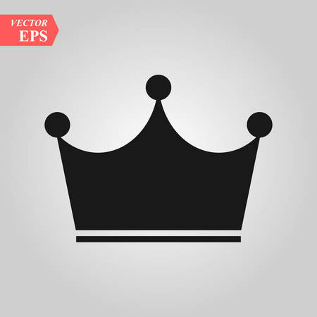 Crown Icon in trendy flat style isolated on grey background. Crown symbol for your web site design, logo, app, UI. Vector illustration, EPS 10.