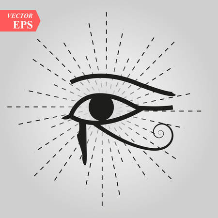 All-Seeing Eye of God The Eye of Providence Eye of Omniscience Luminous Delta Oculus Dei . Ancient mystical sacral symbol of Illuminati and Freemasonry. eps10