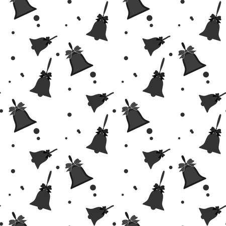 Christmas bell icon illustration isolated vector, can be used for web and mobile design seamless pattern eps10