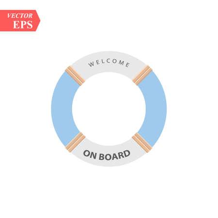 Lifeboat float icon, vector illustration design. Travel icons. eps10