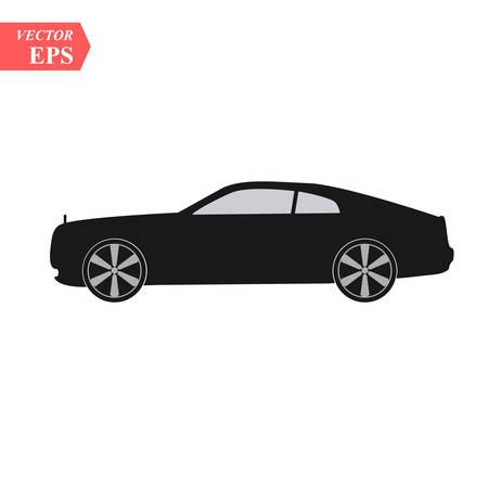 Super car design concept. Unique modern realistic art. Generic luxury automobile. Car presentation side view