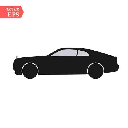 Concept de design de voiture super. Art réaliste moderne unique. Automobile de luxe générique. Vue latérale de présentation de voiture Vecteurs