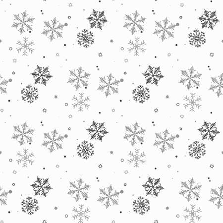 Snowflakes seamless pattern. Snow falls background. Symbol winter, Merry Christmas holiday, Happy New Year celebration Vector illustration eps10 Illustration