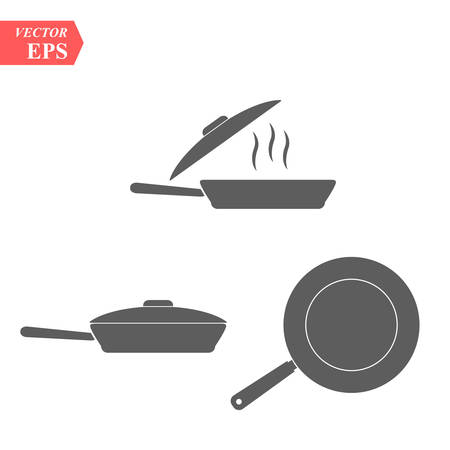Frying pan icon. Vector concept illustration for design. eps10