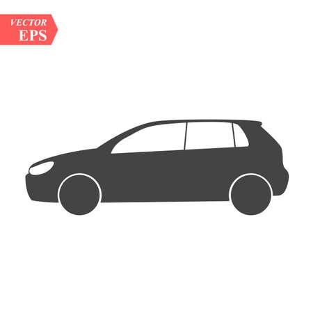 Icône de vecteur de voiture. Illustration de logo de voiture avant simple isolée. Signe eps 10