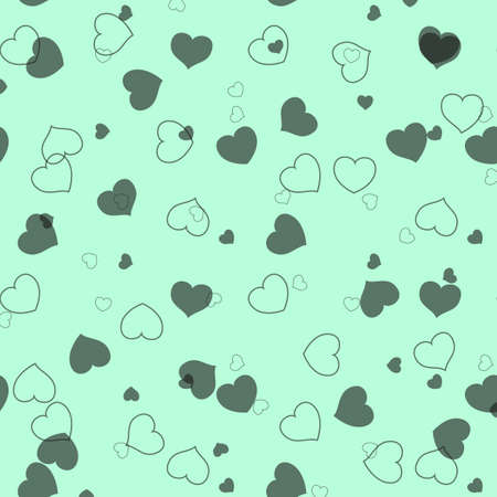 seamless pattern graphic diagonal black small heart vector on white background eps10
