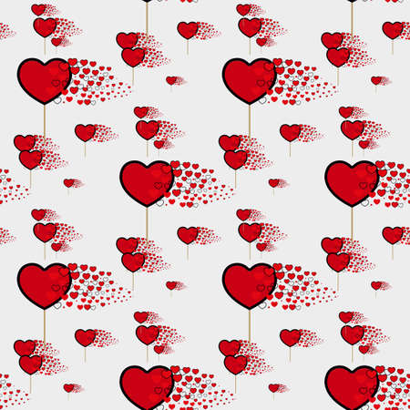 candy hearts pattern vector. Seamless vector pattern with lollipops. Wrapping textile fabric wallpaper design. eps10