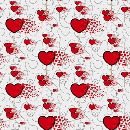 candy hearts and line pattern vector. Seamless vector pattern with lollipops. Wrapping textile fabric wallpaper design. eps10 Illustration