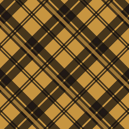Brown Tartan Plaid Scottish fabric texture check tartan seamless pattern. Vector illustration. Illustration
