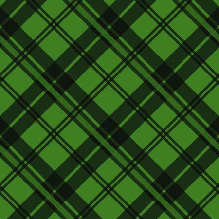Textura de tela de tartán verde en una ilustración de vector transparente de patrón cuadrado