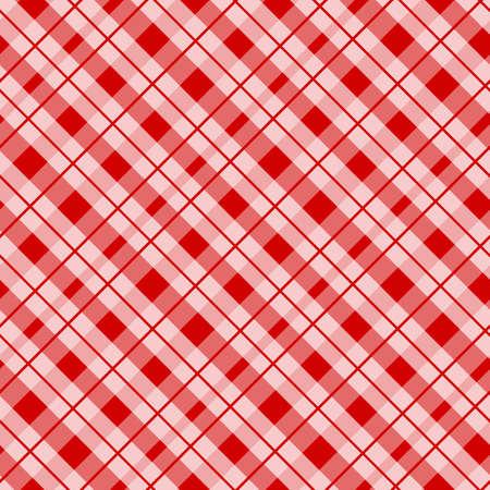Jaula escocesa, celta roja. Fondo escocés a cuadros rojo. Patrón escocés. Ilustración vectorial eps10