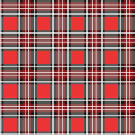 Seamless plaid check pattern in red, white and black. eps 10 Stock Vector - 108471975