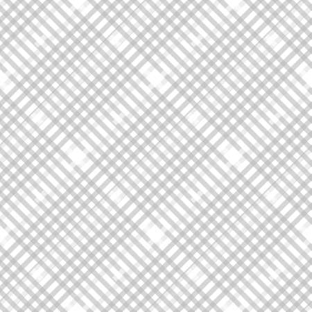 Plaid check pattern in pastel grey, dusty beige and white. Seamless fabric texture. Diagonal print. eps10 Illustration