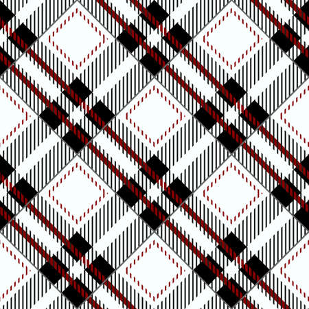 Black Gingham Tablecloth Seamless Diagonal Pattern eps 10