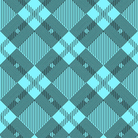 Plaid checkered tartan seamless pattern in black and blue colors. Vector eps10 Illustration