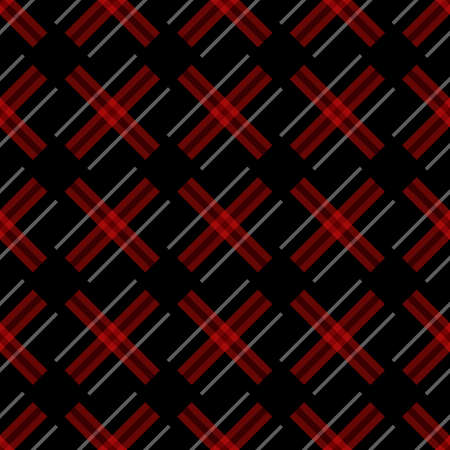 Knitting seamless vector plaid pattern with lines as a woollen Celtic tartan plaid or a knitted fabric texture in muted warm hues eps10 Stock Illustratie