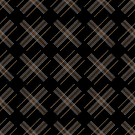 Knitting seamless vector plaid pattern with lines as a woollen Celtic tartan plaid or a knitted fabric texture in muted warm hues eps 10