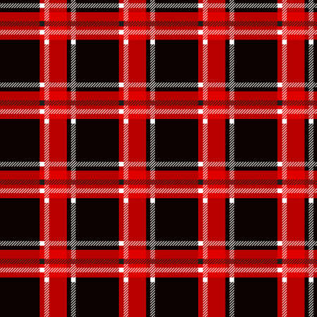 Red and black tartan plaid Scottish seamless pattern.