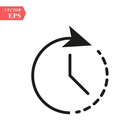 Clock icon. Timer icon. Countdown, deadline, schedule planning symbol Vector icon eps10 Vektorové ilustrace