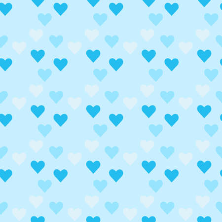 Retro seamless pattern with colorful hearts Vetores