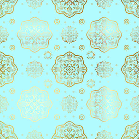 Islamic seamless oriental pattern, Abstract vector seamless ornament.
