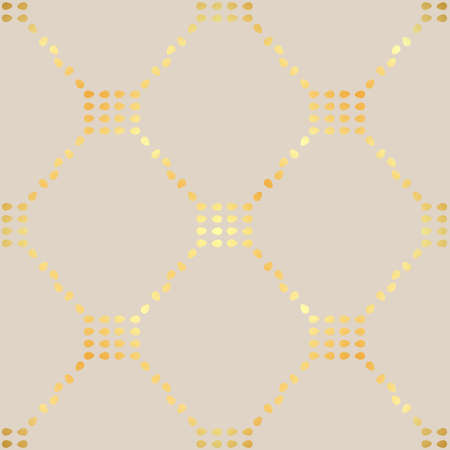Geometric repeating ornament. Seamless abstract modern texture with diagonal golden dots for wallpapers and background eps10 Illustration