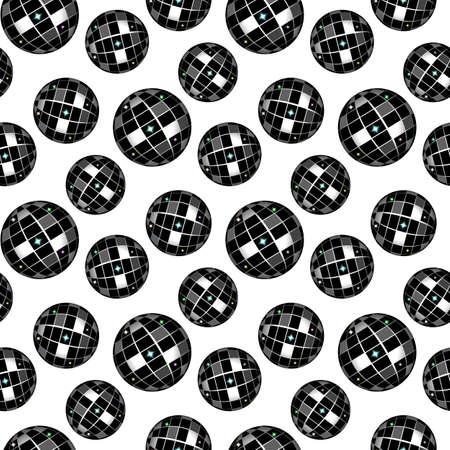 black white shiny disco seamless patterns for Nightclub design eps10