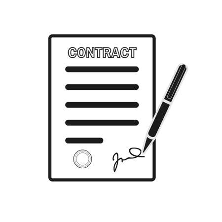 Lease Contract Icon. Professional, pixel perfect icons optimized for both large and small resolutions. EPS10 format.