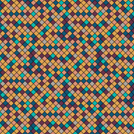 Pattern mosaic tiles texture. Turquoise and colorful abstract pixel background eps10 Vettoriali