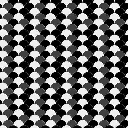 Seamless azure black and gray vintage waves op art pattern eps10 Ilustrace