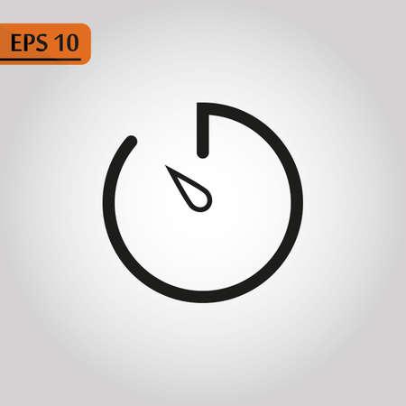 Speedometer icon. Multiporpuse guage black coracle Icon, illustration isolated on white background.