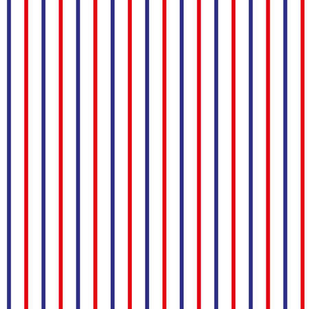Stripe seamless pattern with red,blue and white vertical parallel stripe.Vector abstract background. eps10 Ilustrace